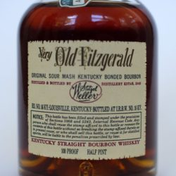 very_old_fitzgerald_1958_half_pint_back_label