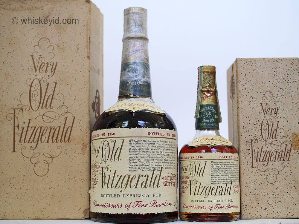 very old fitzgerald 1958 half pint and 4/5 quart