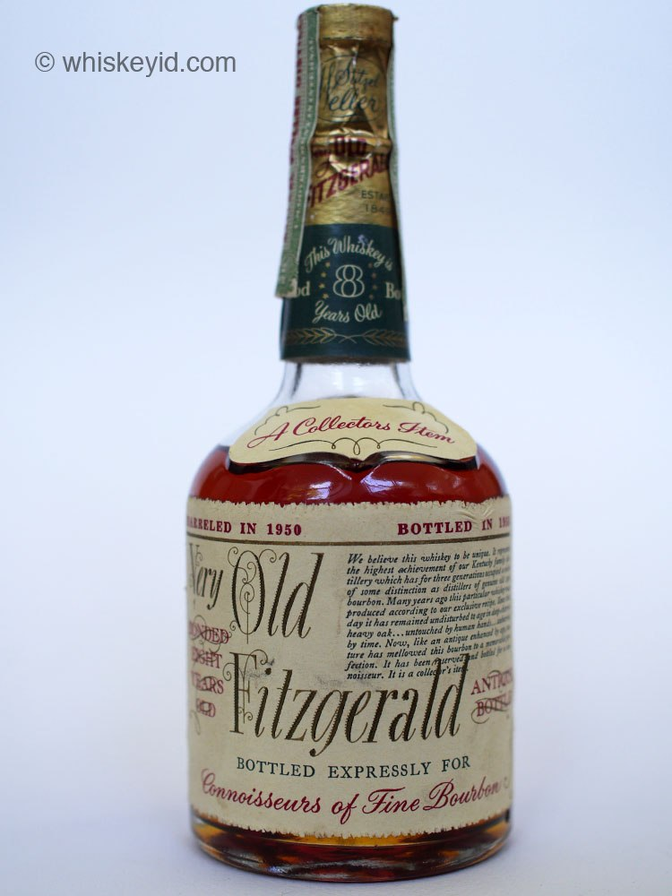 very old fitzgerald bourbon 1958 half pint front
