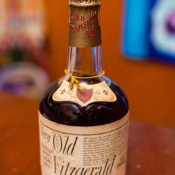 very old fitzgerald 8 year bourbon 1973 front