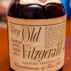 very old fitzgerald 8 year bourbon 1973 front label