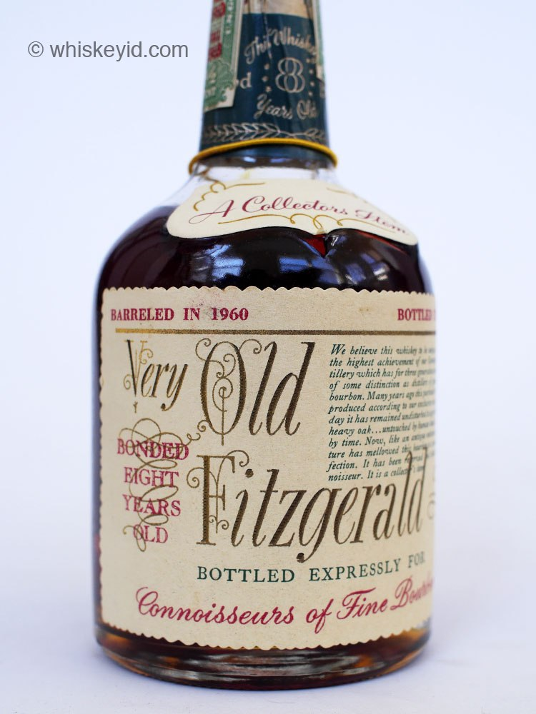 Very Old Fitzgerald 8 Year Bourbon Half Pint 1968 Side1