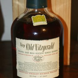 very old fitzgerald 8 year bourbon 1958 - back