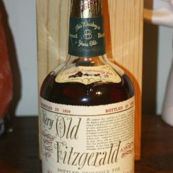 very old fitzgerald 8 year bourbon 1958 - front