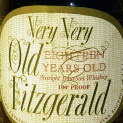 very very old fitzgerald 18 year bourbon 1969 - front label