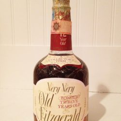 very very old fitzgerald 12 year bourbon export 86 proof 1967 - front