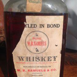 w.b. samuels medicinal whiskey 1913 front