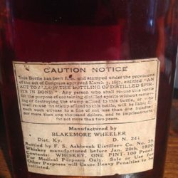 w.b. samuels medicinal whiskey 1913 back