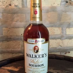 walker's deluxe 8 year bourbon 1968 front