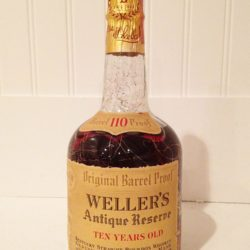 weller's antique reserve 10 year 110 proof - front