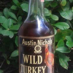 wild turkey 7 year bourbon 1974 back