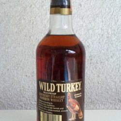 wild turkey bourbon 86.8 proof 1983 back
