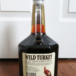 wild turkey 8 year 101 proof bourbon handle 1994 - back