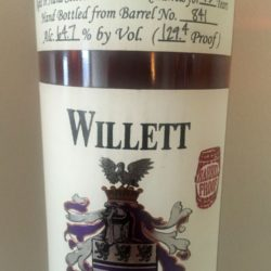 willett_15_year_bourbon_barrel_841_whiskey_keller_front_label