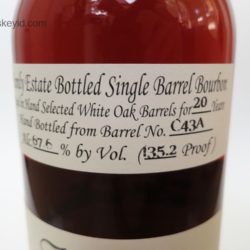 willett 20 year bourbon barrel c43a - front label