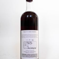 willett 27 year bourbon barrel 473 binny's back