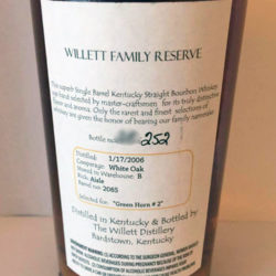 willett_4_year_bourbon_barrel_2065_green_horn_back_label